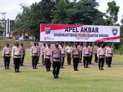 APEL AKBAR Bhabinkamtibmas, Dit Binmas Polda Riau Lakukan Pengecekan Barang Inventaris Bhabinkamtibmas jajaran Polres Kuansing