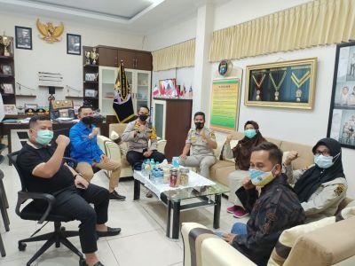 Lonjakan Kasus Corona Tinggi, Kapolres Dumai Minta KNPI Riau, Dumai dan KBPPP Jadi Garda Terdepan Cegah Penyebaran Covid - 19