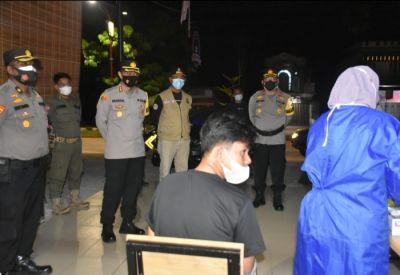Operasi Yustisi bersama Satgas Covid-19 di Pimpin Kapolres Kuantan Singingi