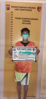 Satuan Resnarkoba Polres Kuansing Tangkap Pelaku tindak Pidana Narkotika Jenis Shabu