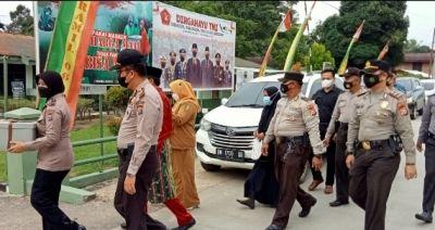 Sempena HUT TNI Polsek jajaran lakukan Silaturahmi ke Makoramil Kodim 0302 Inhu